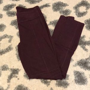 Abound Burgundy Moto Leggings